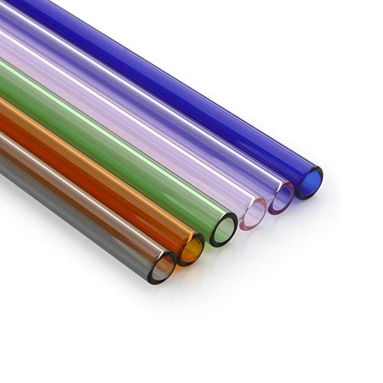 Reusable Coloured Straight Glass Straw