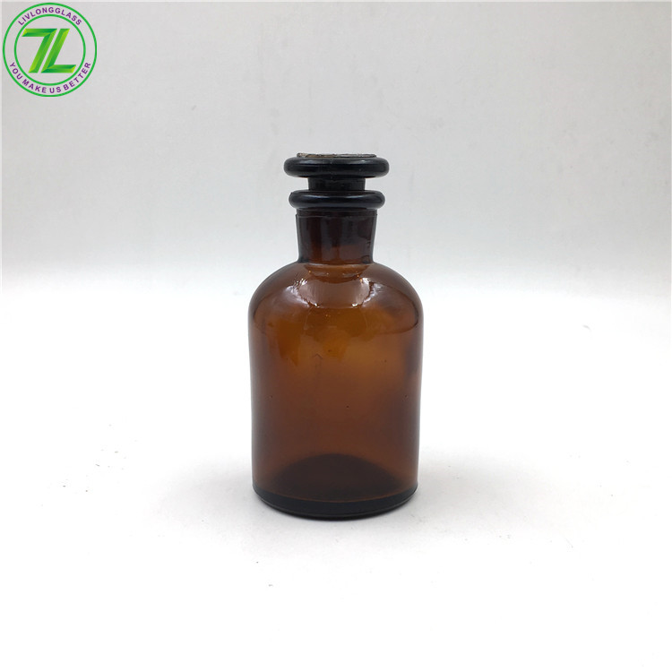 120ml Reagent Bottles Ground Glass Stopper Amber Laboratory Bottle