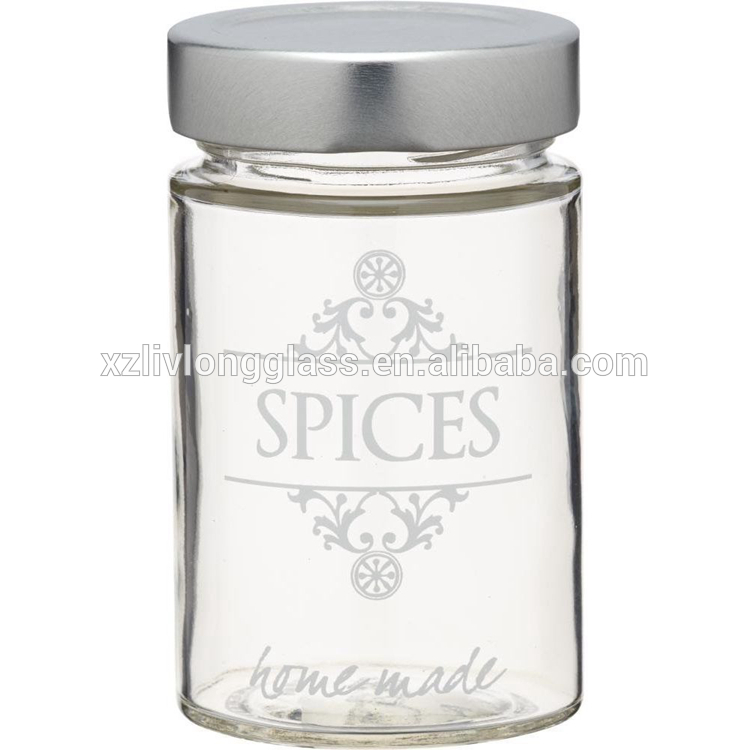 3 oz Clear Glass Spice Jar with Screw Metal Lid