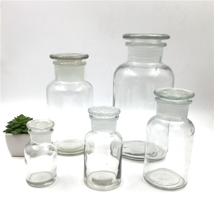 60ml 125ml 250ml 500ml 1000ml Clear Glass Reagent Bottle