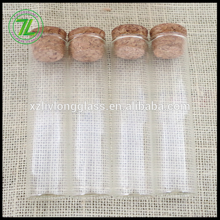 fruit juice sample and liquor use 60ml glass tube 2oz glass vial with cork lid