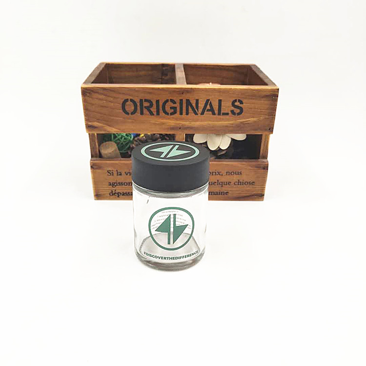 hot sale 3oz CBD resistant glass jar with plastic childproof lid for cosmetic packaging or herbs weeds 80ml cheaper