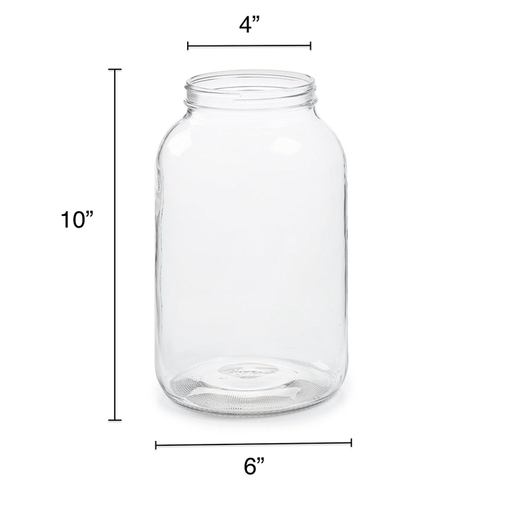 Newly ArrivalCollapsible Stainless Steel Straw - eco lead free high capacity 1.5L  glass jug jar food storage container  glass bottle pot   50OZ – LIVLONG