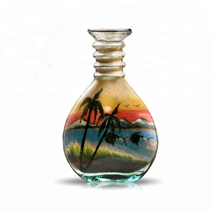 Well-designed Clip Glass Bottles - Jordan Sand Painting Art Clear Glass Bottles for Decoration – LIVLONG