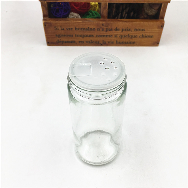 60ml 2oz Round Glass Spice Jar For Salt Pepper With Metal Lid And Shaker