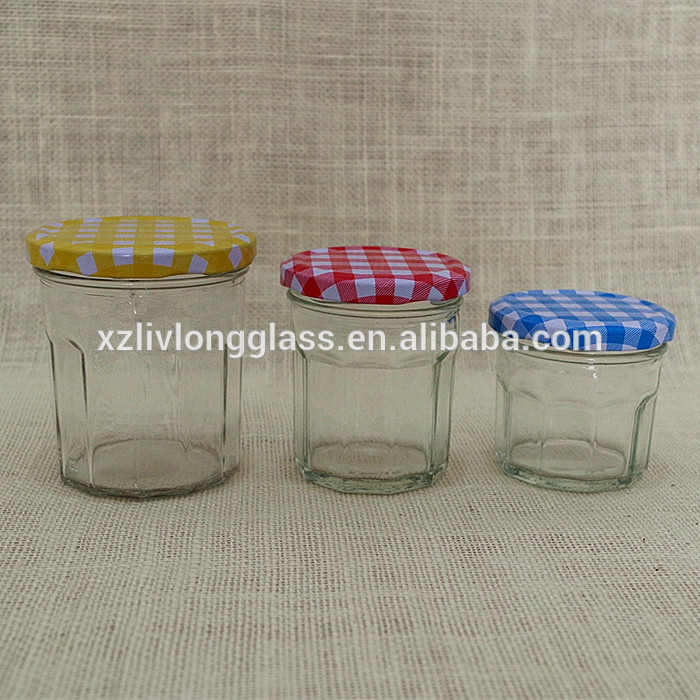BONNE MAMAN EMPTY CLEAN JAM JELLY GLASS JARS WITH LIDS