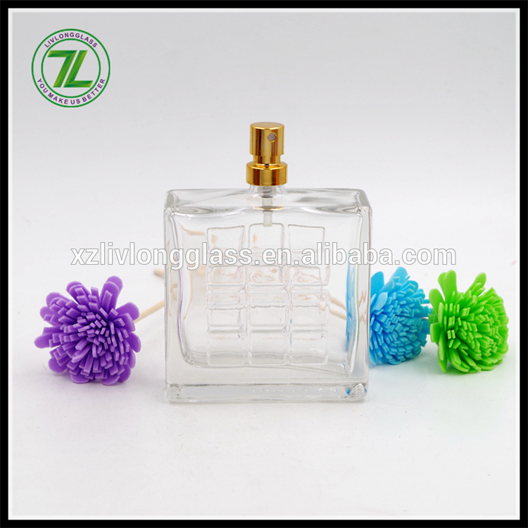 rectangle empty glass perfume bottle 100ml