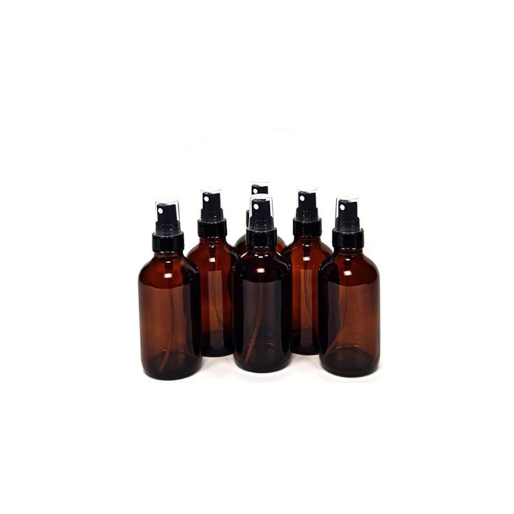 Top Quality Cork Top Glass Bottles - Amber 4oz Glass Bottles with Black Fine Mist Sprayers – LIVLONG