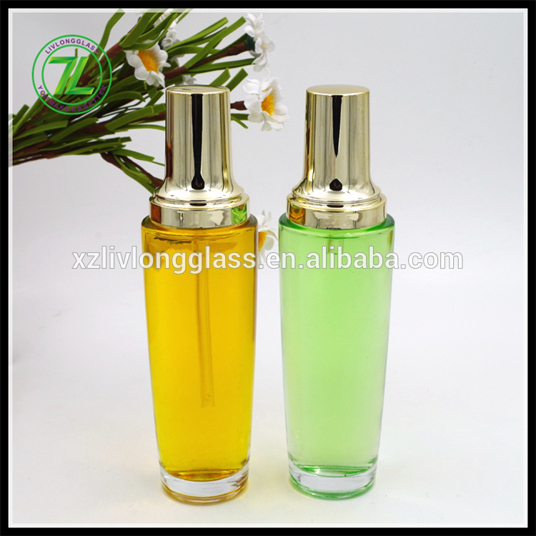 100Ml Luxury Cosmetic Packaging Container glass lotion bottle