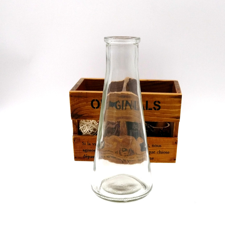 tapered shape 350ml 12oz empty sand art glass bottle with corks