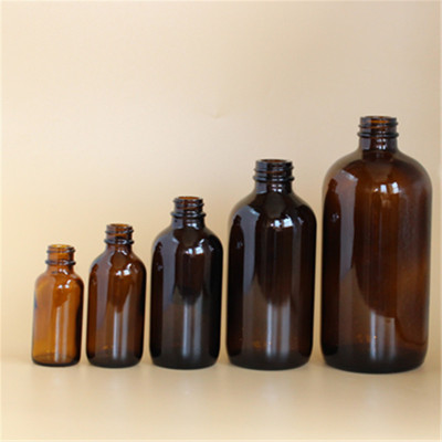 Factory direct large capacity 500ml brown Boston glass bottle brown reagent bottle essential oil bottle 30-500ml wholesale
