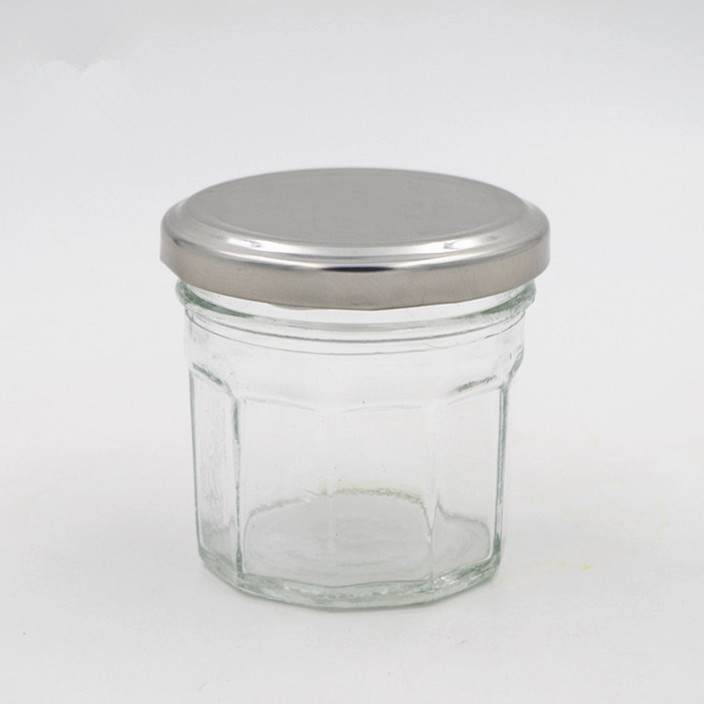 Reasonable price Face Cream Jar - 380ml stocked polygon transparent 100ml bonne maman glass jar 3oz chili sauce jam bottle with metal airtight lug lid for honey – LIVLONG