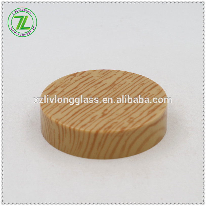 wholesale ABS plastic screw cap wood grain lid wood cap jar lid Featured Image