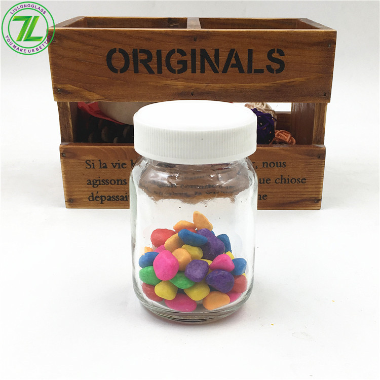 4oz Square Glass Jar With Plastic Lid