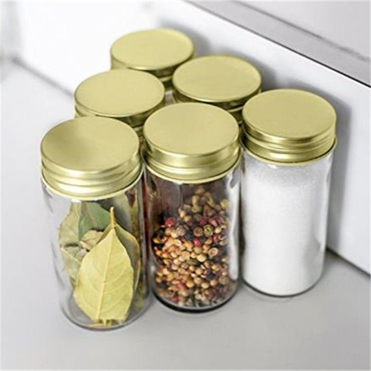 Glass Spice Jars with Shaker Lids and Chalkboard Sticker Labels 4oz