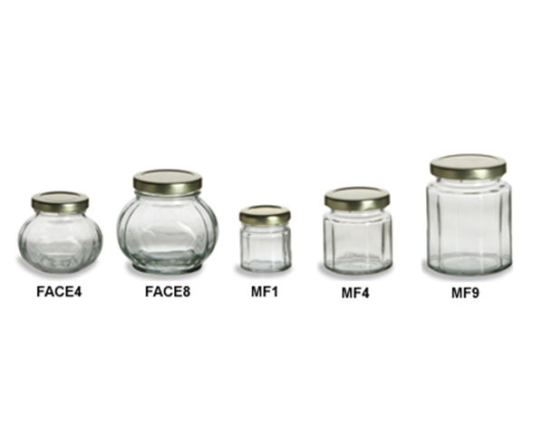 wholesalestocked mini polygon clear portable honey jam sauce glass jar storage canning bottle with meta lug airtight seal up lid