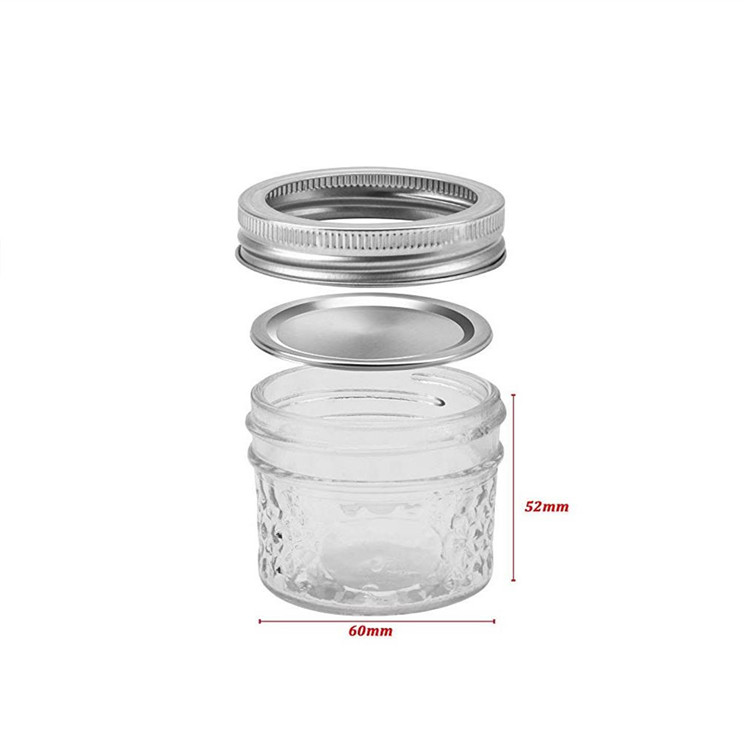 Glass Mason Jars With Lid 4oz