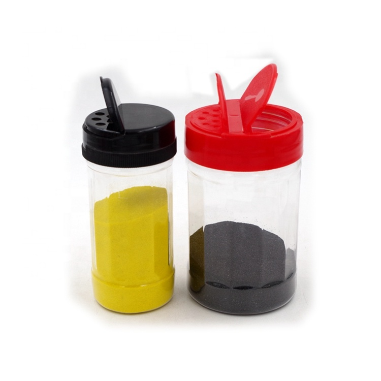 150ml 250ml Clear Plastic Bulk Spice Jars with Shaker Sifter Lids