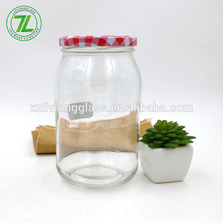 large capacity 850ml 900ml 30oz glass jam jar with lids