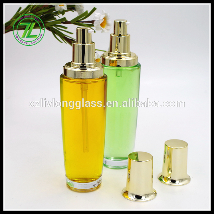 100ml glass serum pump bottle cosmetic packaging