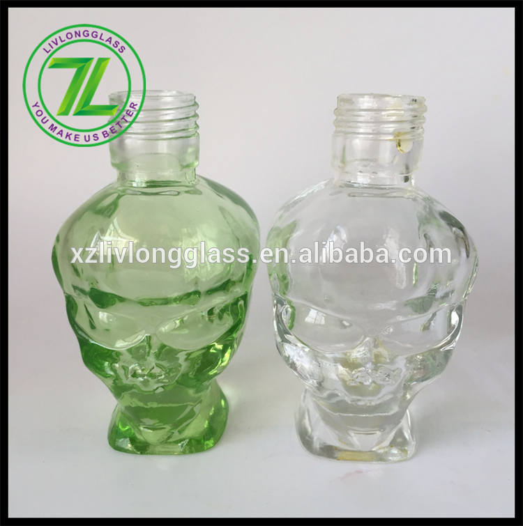 OEM China 1oz Skin Care Cream Glass Container - 50ml alien shaped perfume glass bottle unique shape – LIVLONG