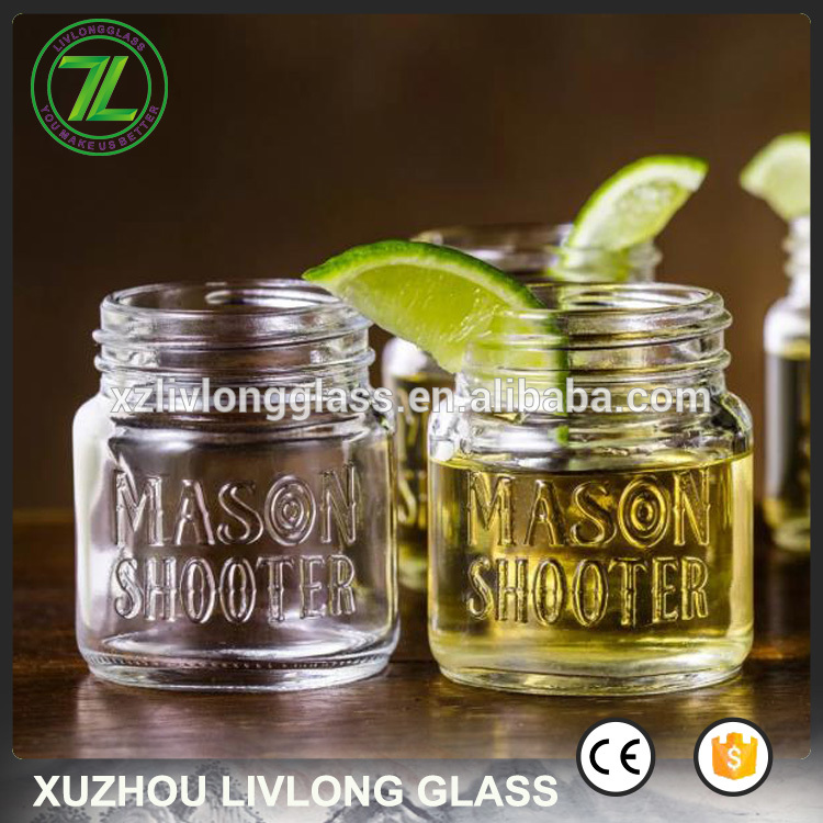 spirits and liquor use 50ml 2oz mini glass shot mason jar with lids