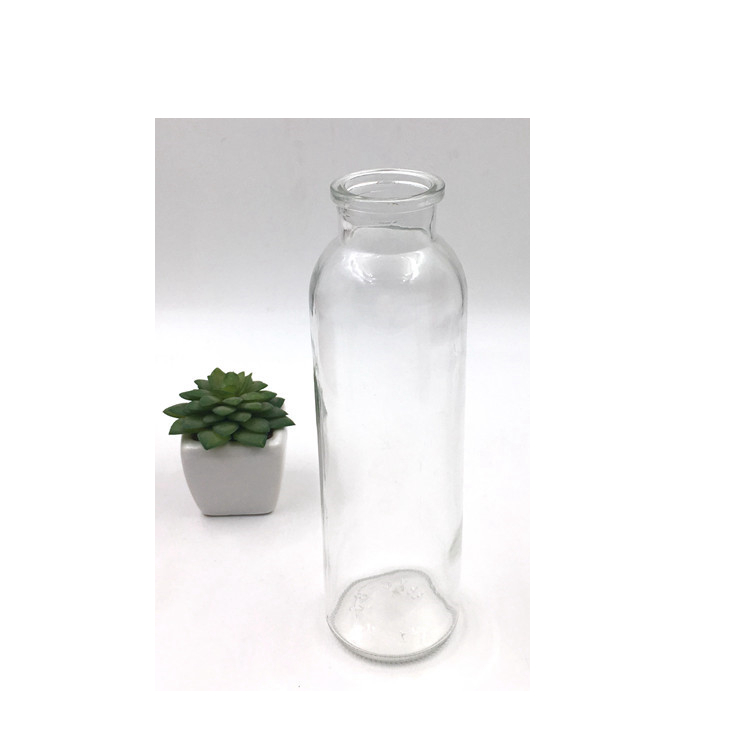 Custom Design 8oz 250ml Glass Beverage Juice Milk Bottle With Lid