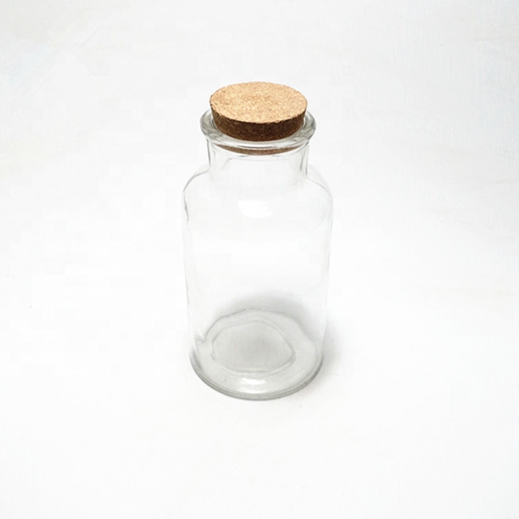 eco cheap amber pill spell tablet loading glass bottle Health care product bottle with glass or cork lid for medicine powder