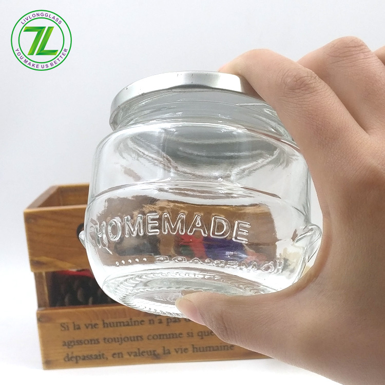 Fixed Competitive Price Sqaure Clip Top Container - custom design 230ml homemade pesto bottle 270ml glass food storage jar with lids – LIVLONG