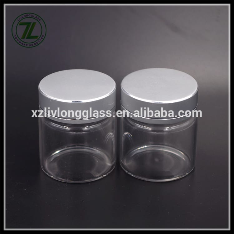 50ml round mini jar glass