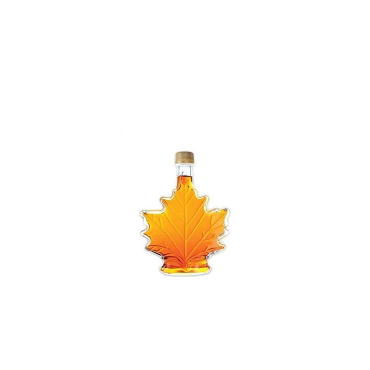 250ml Maple Leaf Shaped Maple Syrup Glass Bottle With Cap
