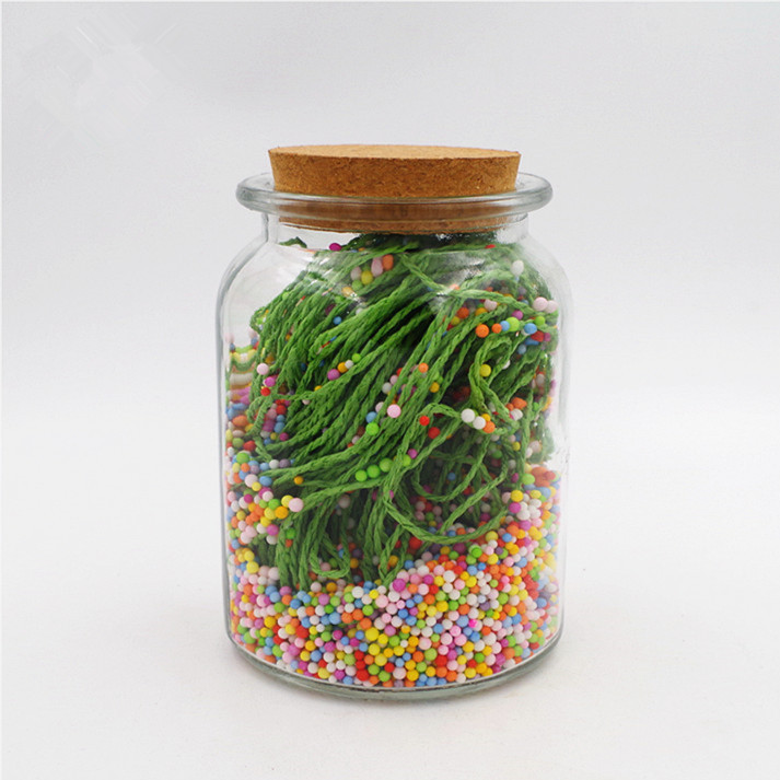 300ml clear nut dried food candy honey bee glass mason jar 10oz washing glass  bottle with cork