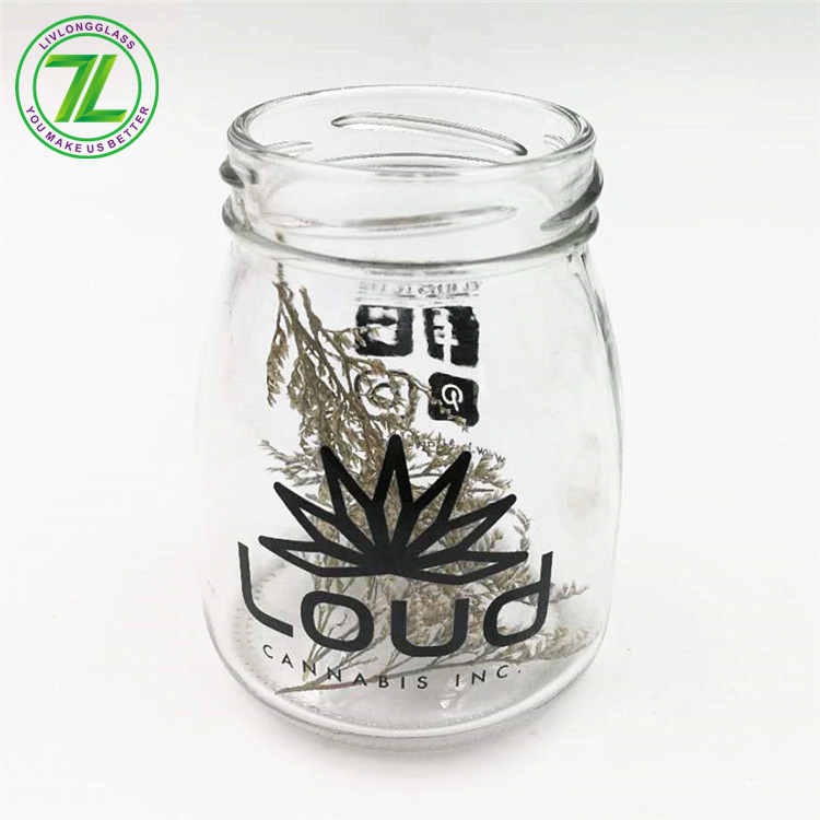 weeds pack glass jar with screw top