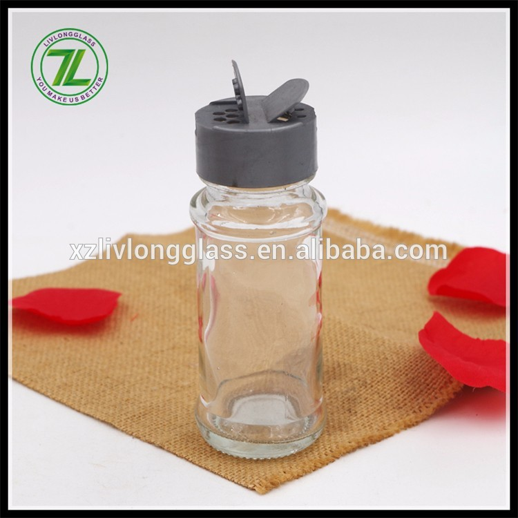 black pepper and table salt use 70ml 2.5oz cylinder glass spice jar with flip top cap