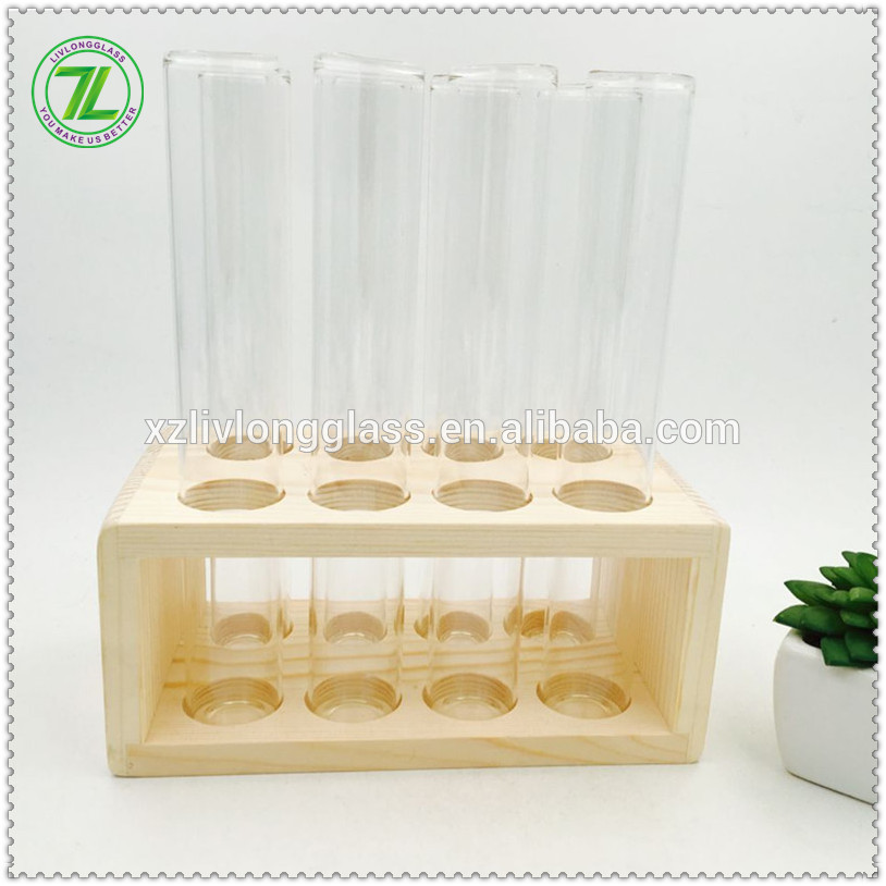 8 pcs borosilicate test tube spice jar wood spice rack
