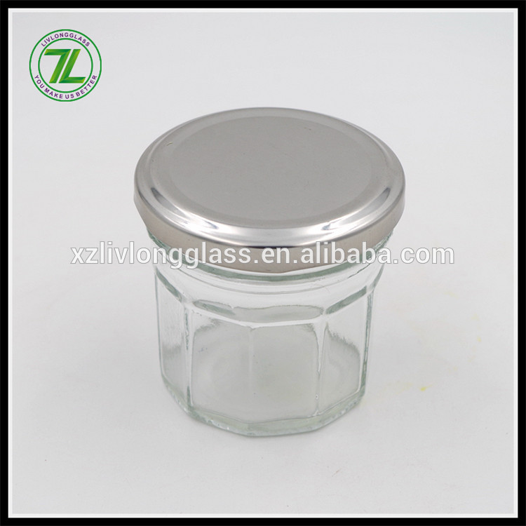 mult edges glass mini honey jar