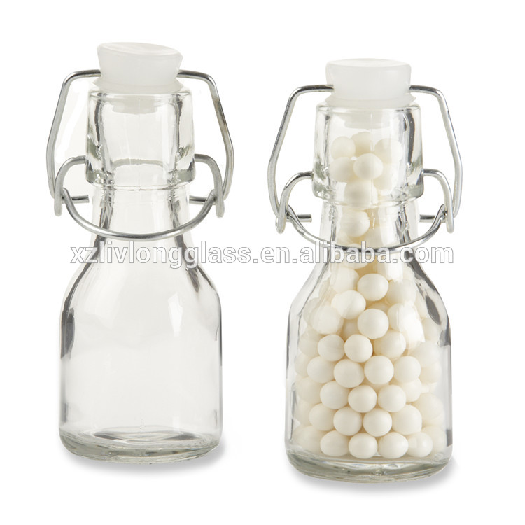 2oz Mini Swing Top Glass Bottle