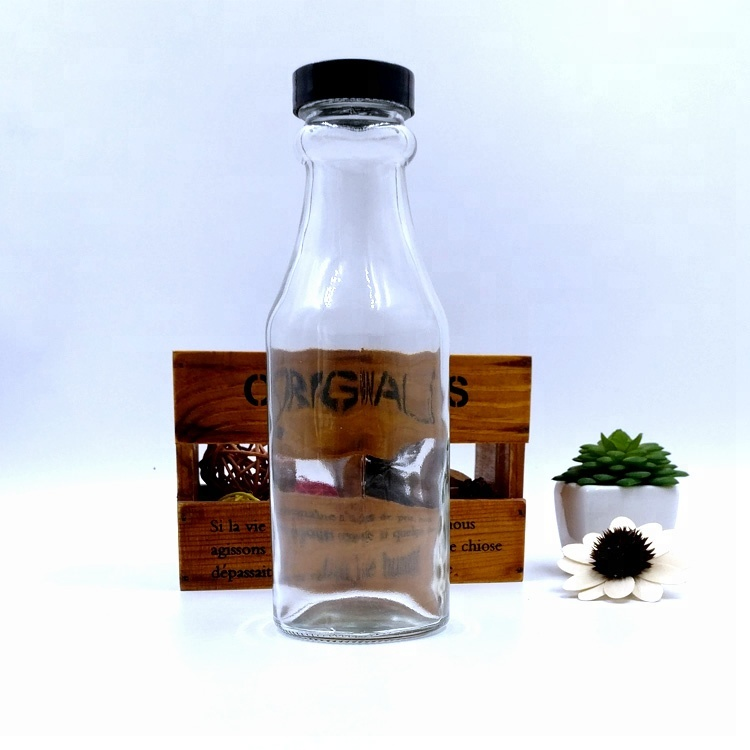 New Arrival China Glass Bottle For Coconut Oil - customize 14oz tomato sauce packaging 420ml empty ketchup glass bottle with screw caps – LIVLONG