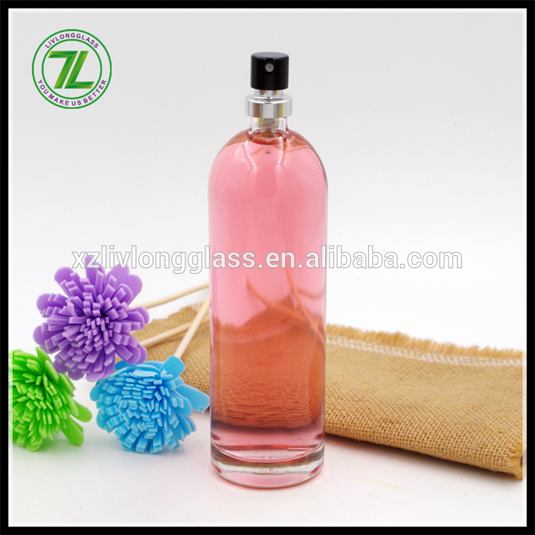 100ml bullet round glass perfume bottle with 28-410 neck finish