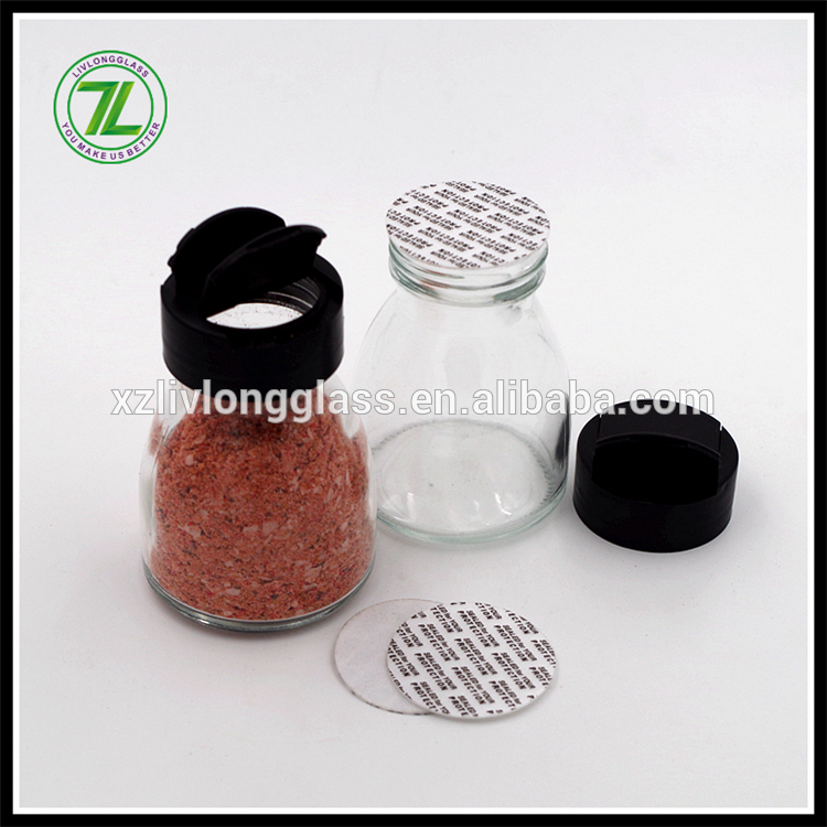 4oz 120ml Clear Crystal Glass Spice Herb Jar with Pressure Sensitive Gasket and Cap
