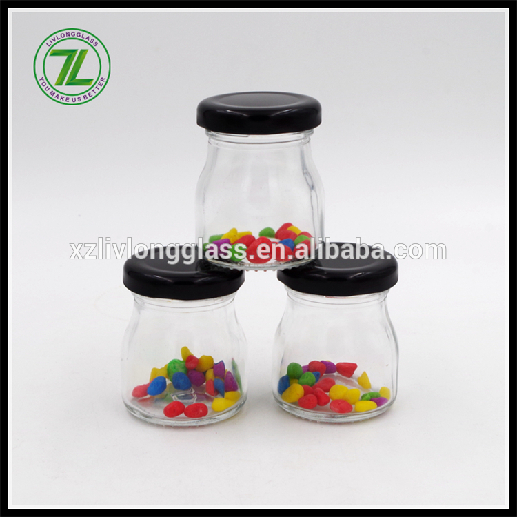 50ml mini glass jam jar with screw lid