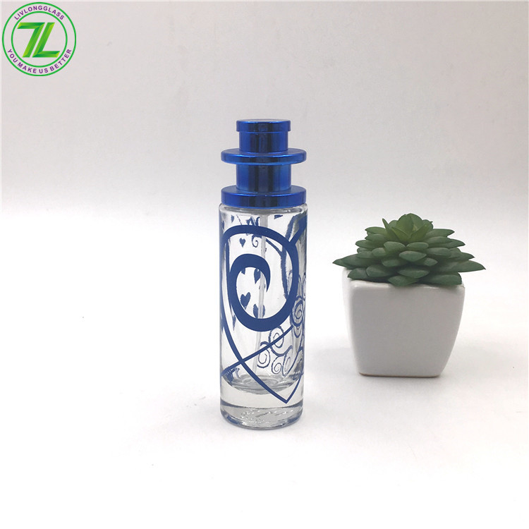 30ml fancy glass perfume bottle with spray cap