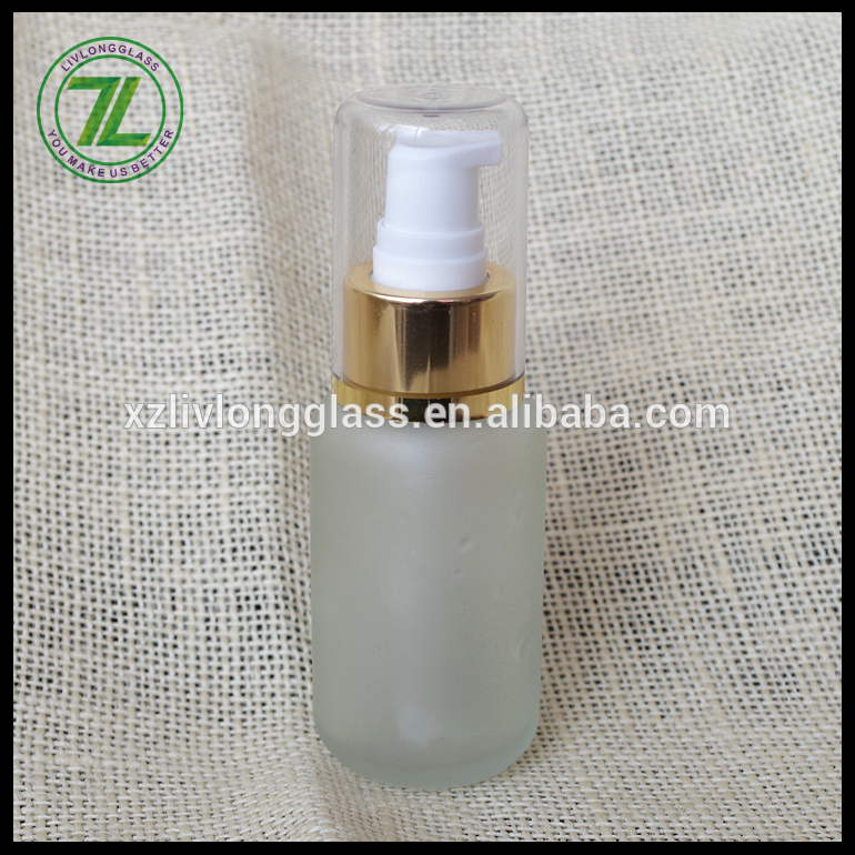50ml glass frosted lotion bottle with lotion pump