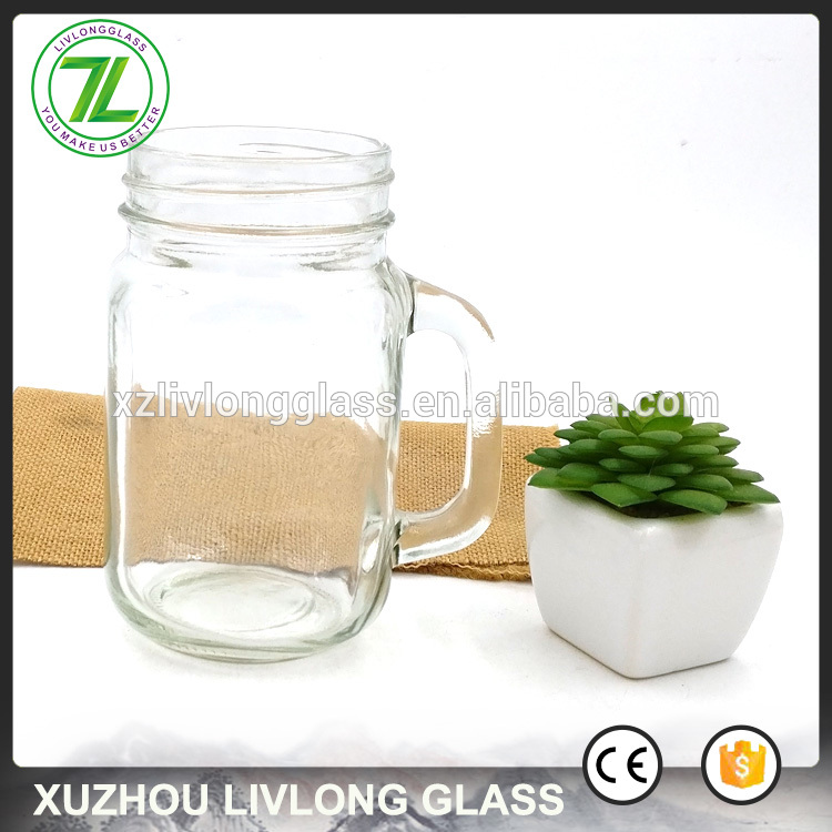 OEM/ODM Supplier Honey Jar Glass - wholesale 400ml drinking mug 16oz glass mason jar with custom logo and plastic straws – LIVLONG