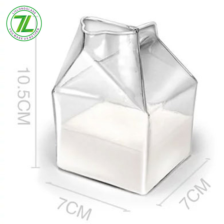 factory Outlets for Dark Green Glass Bottles - small house design 250ml glass milk carton 300ml empty glass milk container for sale – LIVLONG
