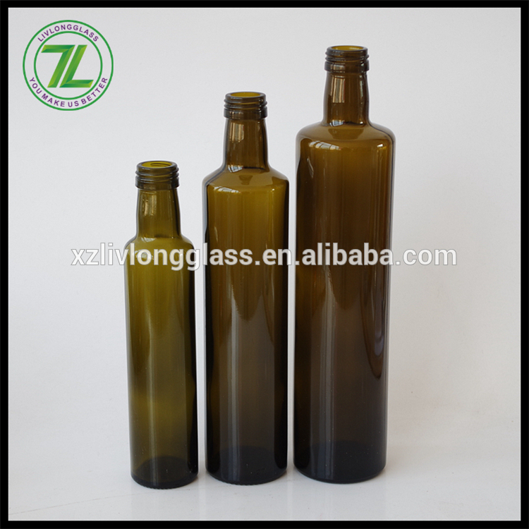 250ml 500ml 750ml wholesale dark green glass olive oil bottle