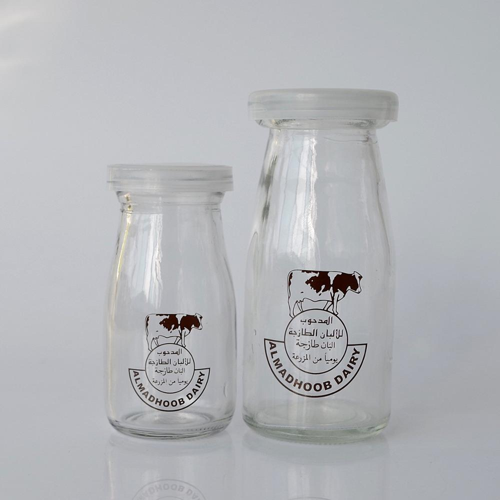 90ml 180ml   clear round   yogurt pudding glass jar milk for breakfast glass bottle with plastic lid 6oz 3oz