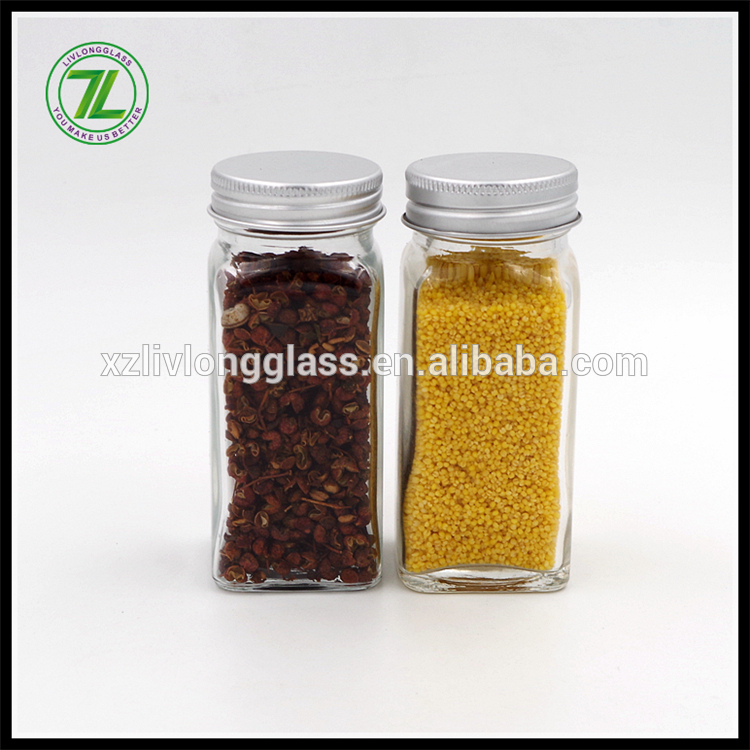 120ml glass spice jar with shaker and aluminum lid Featured Image
