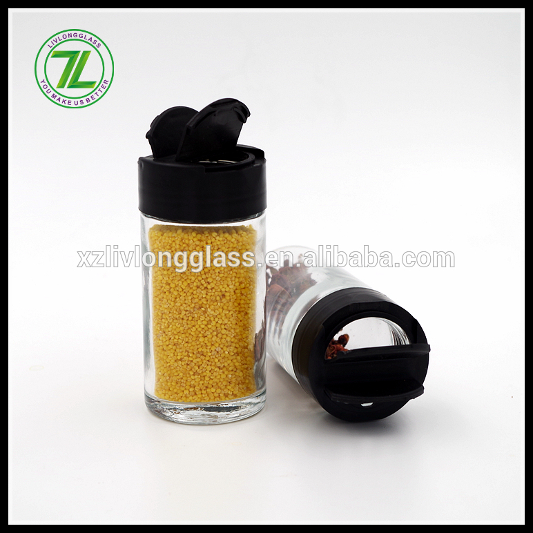 100ml Round Glass Spice Herb Jar with Multipurpose Shaker