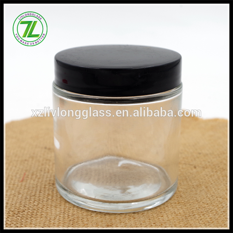 custom design 90ml straight sided body butter jar 3oz glass jar for cream
